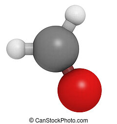 formaldehyde molecule (CH2O), chemical structure - Chemical...