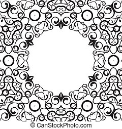 Formality circular devices of border frames. illustration.