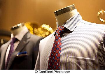 formalny, garnitur, w, fason, pojęcie
