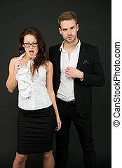 formalwear., sensual, fondo., compañero de trabajo,...