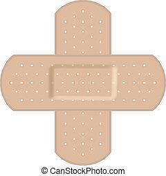 formando, bandages adesivos, crucifixos