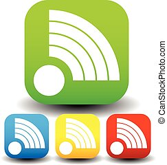 formar, signal, olika, colors., ikon