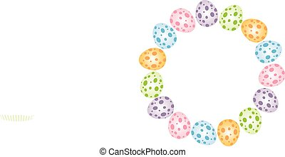formare, uova, pasqua,  fram, circolare
