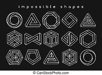 formas, óptico, geomã©´ricas, ilusões