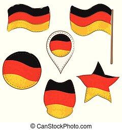 formas, bandera, alemania, realizado, defferent