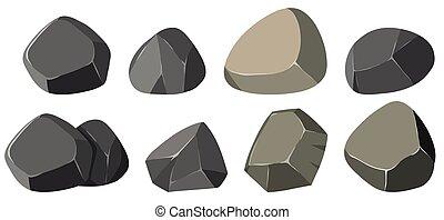 formas, diferente, pedras