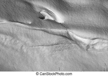 formas, fundo branco, neve, textura