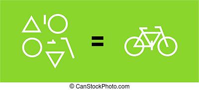 formas, geométrico, bicicleta, resultado