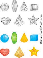 formas, geométrico