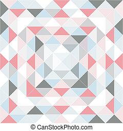 formas, patrón, geométrico, retro