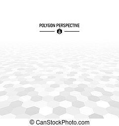 formas, polígono, perspectiva