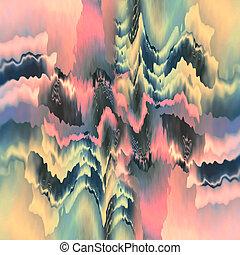 formas, shimmering, etéreo