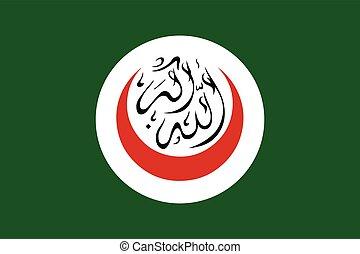 format., イスラム教, 旗, ベクトル, cooperation., 構成