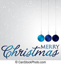 format., bauble, elegant, vector, kerstmis kaart