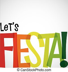 format., fiesta, typografisch, helder, vector, kaart