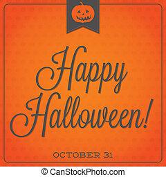 format., halloween, typographique, retro, vecteur, cric,...