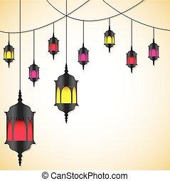 format., vektor, kártya, marokkói, világító