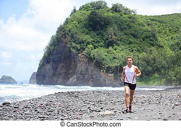 formation, athlète, traîner courir, fitness, homme