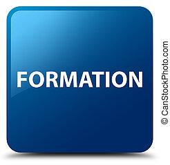 Formation blue square button
