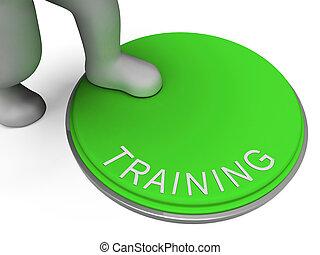 formation, bouton, indique, commutateur, apprendre, education