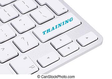 formation, bouton, sur, clavier
