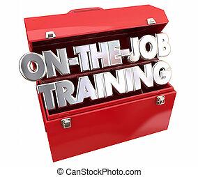formation, carrière, métier, apprentissage, boîte outils, outils, apprenti