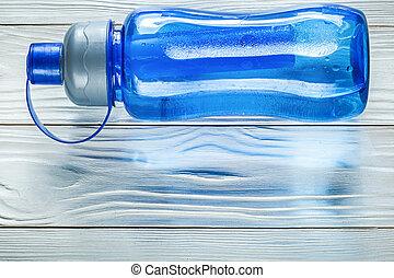 formation, concept, bois, plastique, eau, planche, bouteille, sports