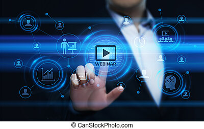 formation, concept, business, webinar, internet, e-apprendre, technologie