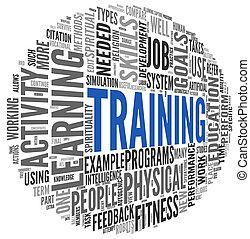 formation, concept, education, mots, apparenté