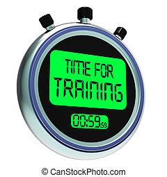 formation, entraînement, temps, message, instruire, ...