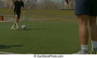 formation, football, jeune, joueurs, pas, football