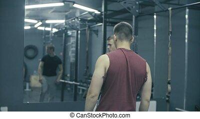 formation, hommes, studio, deux, fitness