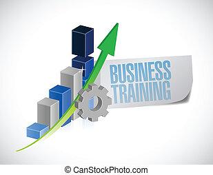 formation, illustration affaires, signe