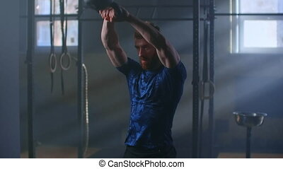 formation, kettlebell, force, exercice, intense, lent, ...
