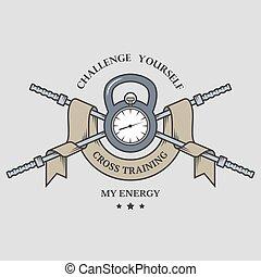 formation mélange, time., emblem.