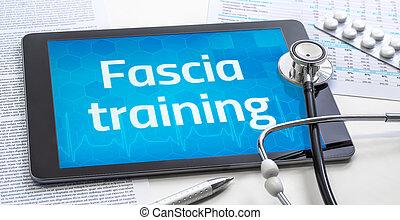 formation, mot, fascia, tablette, exposer