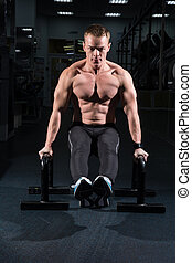 formation, muscles, abdominal, salle, fitness, homme