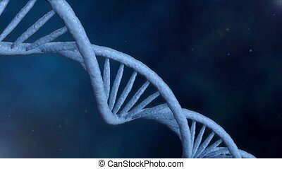formation of DNA. Rotating DNA strands are assembled from...