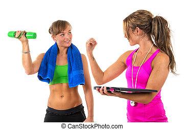 formation personnelle, entraîneur, femme