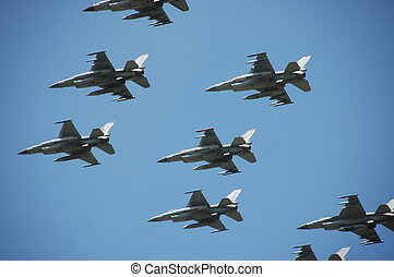 Formation of Dutch f-16s