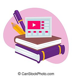formato, en línea, estudios, educación, tecnologías modernas...