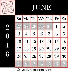 calendario junho 2018