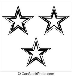forme étoile, conception, icône