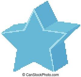 forme, étoile, géométrique, bleu