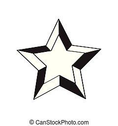 forme, étoile, isolé, icône