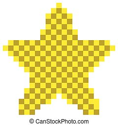 forme, étoile, pixelated, icône