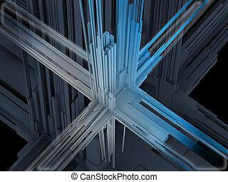 forme abstraite, 3d