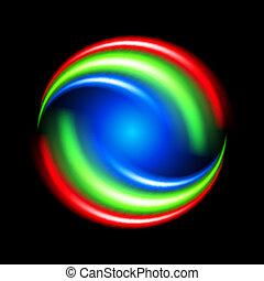 forme abstraite, coloré