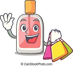 forme, achats, parfum, botlle, dessin animé
