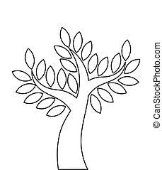 forme, arbre, contour